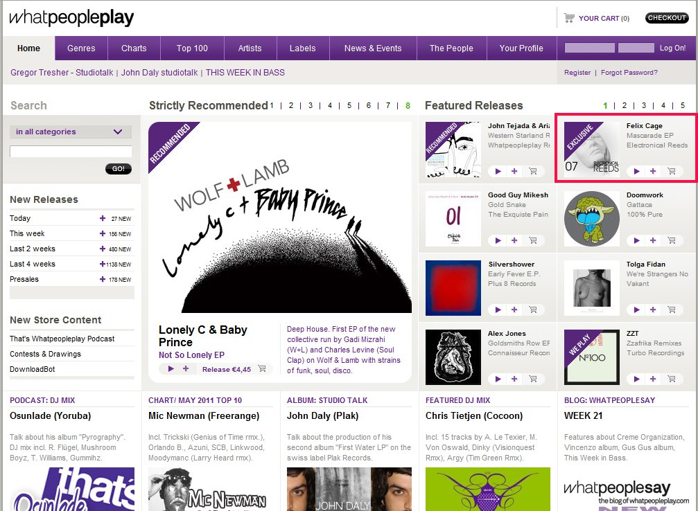 20110601 - Mascarade EP WhatPeoplePlay Homepage