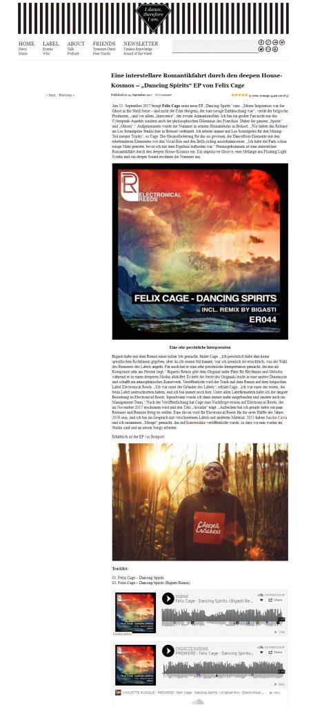 """Eine interstellare Romantikfahrt durch den deepen House Kosmos – """"Dancing Spirits"""" EP von Felix Cage trndmusik"""
